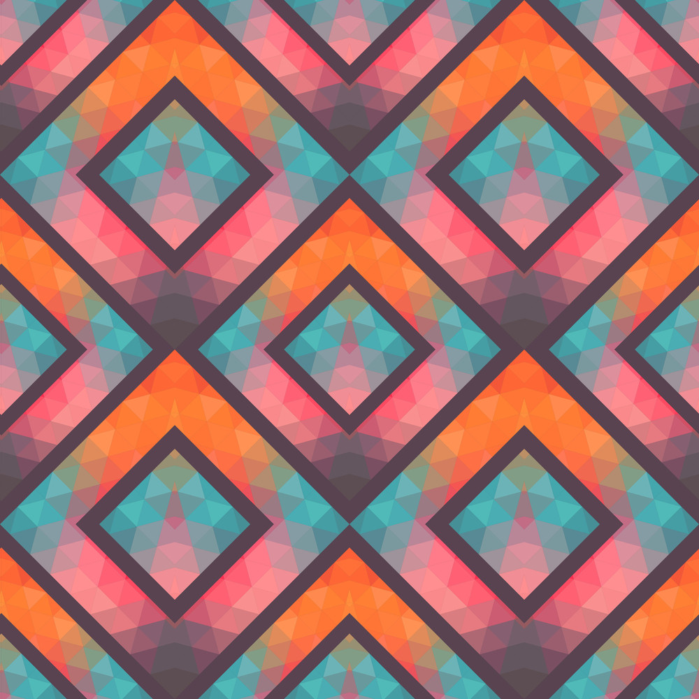 Retro Seamless Pattern With Squares