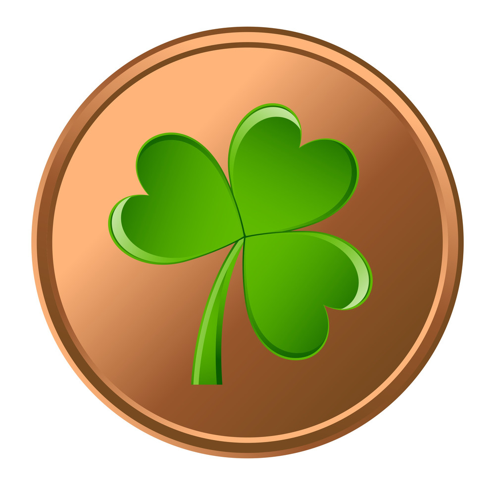 Retro Shamrock Coin