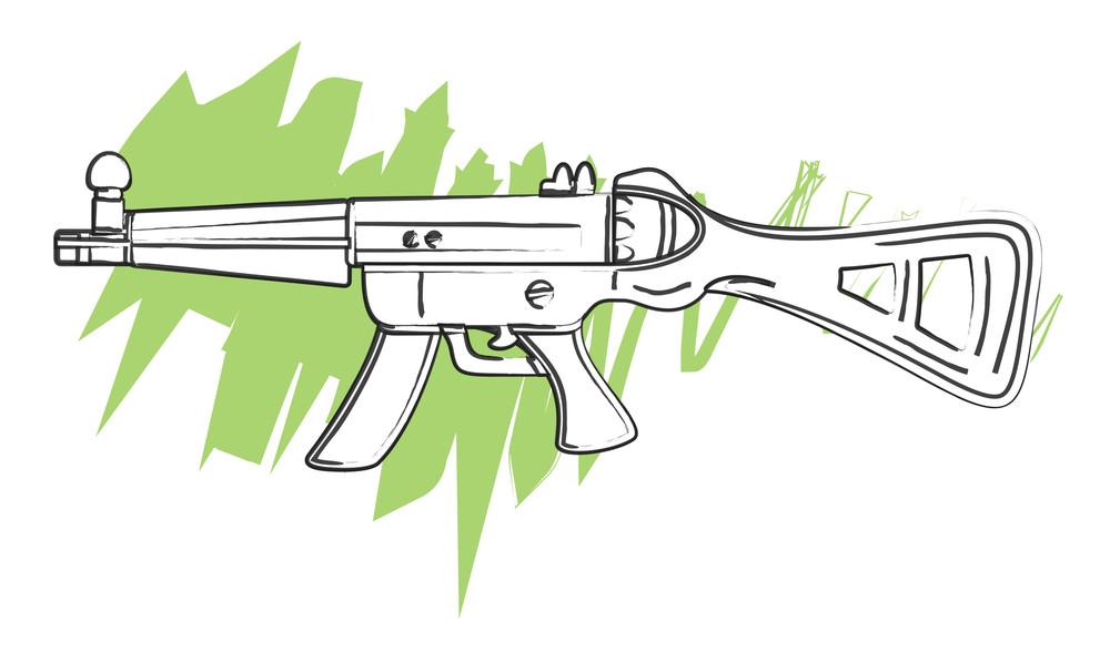 Retro Shape Shooting Gun
