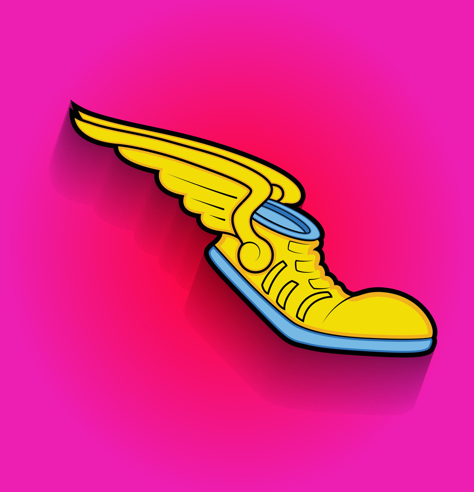 Retro Shoes With Wings