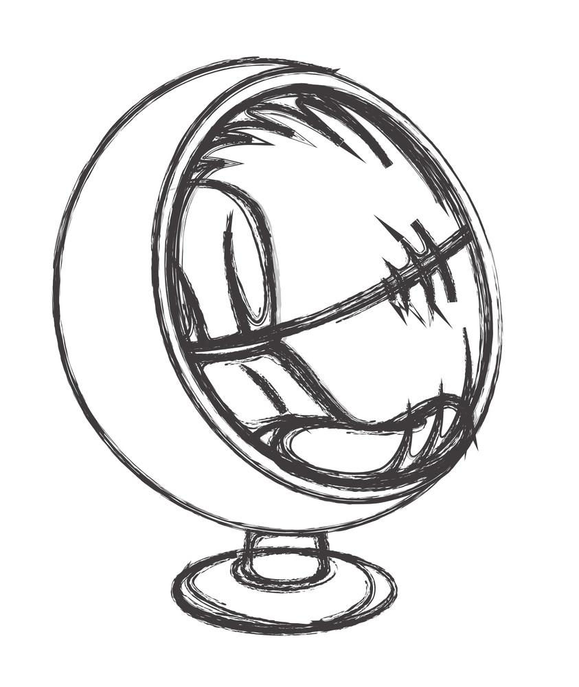 Retro Sketching Sofa Seat