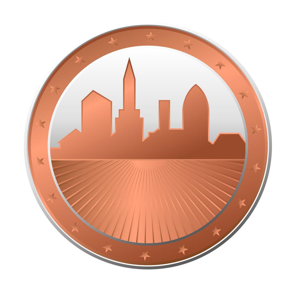 Retro Skyline Coin