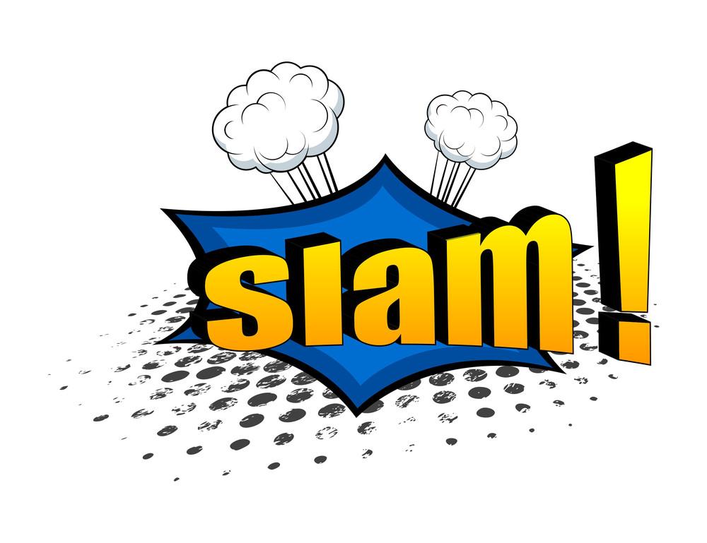 Retro Slam Graphic Comic Design