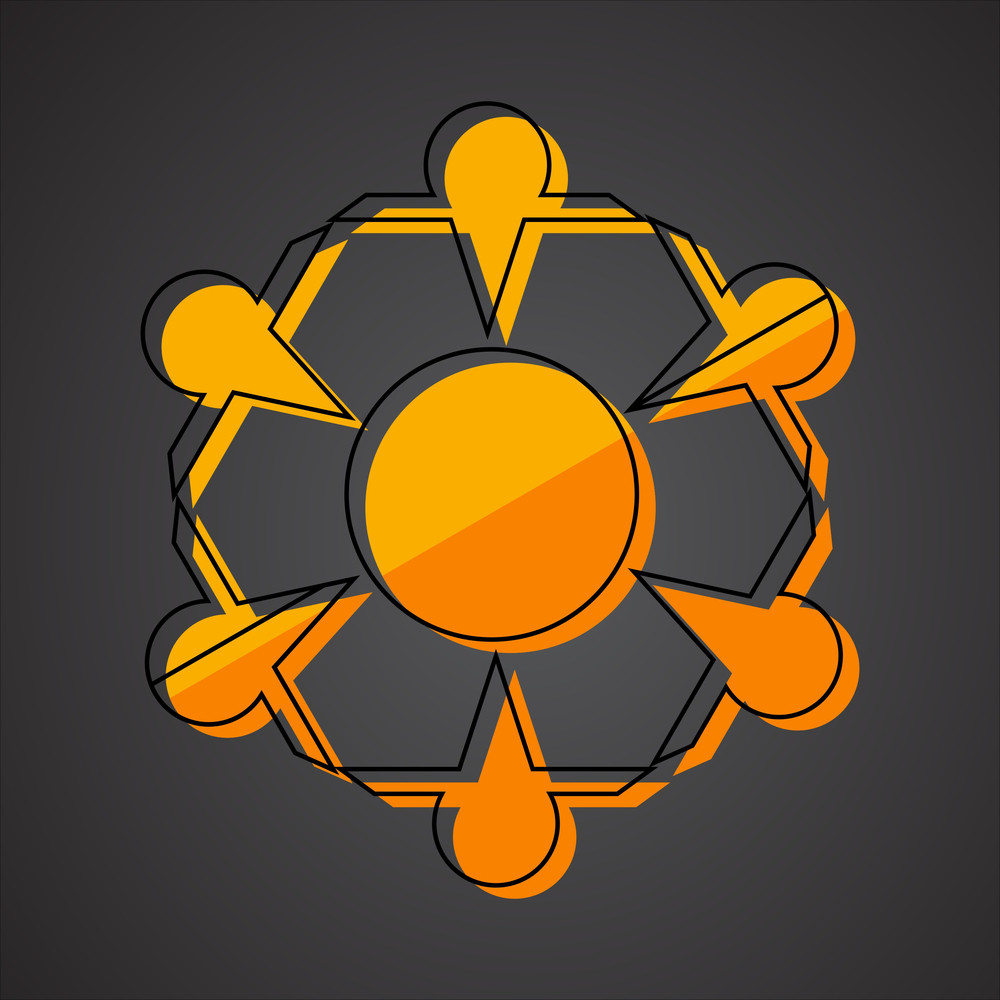 Retro Snowflake Element
