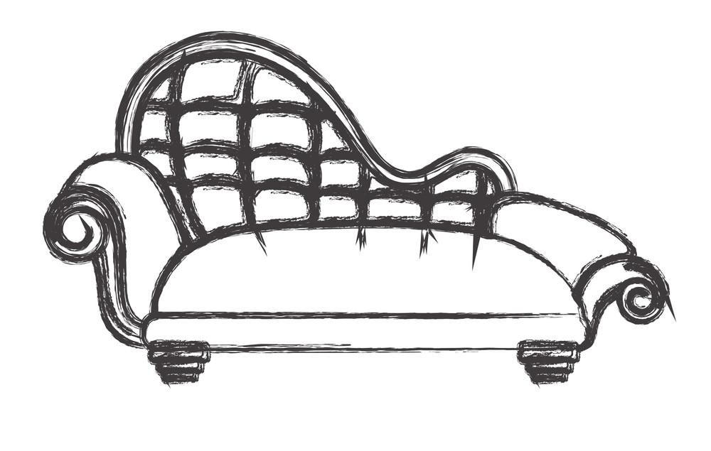 Retro Sofa Design Sketching