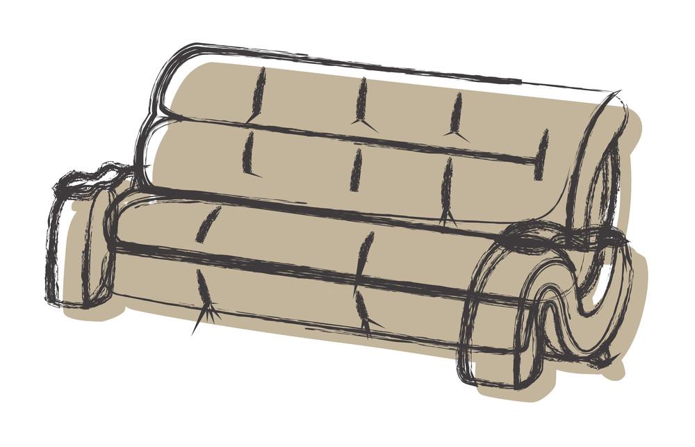 Retro Sofa Sketch