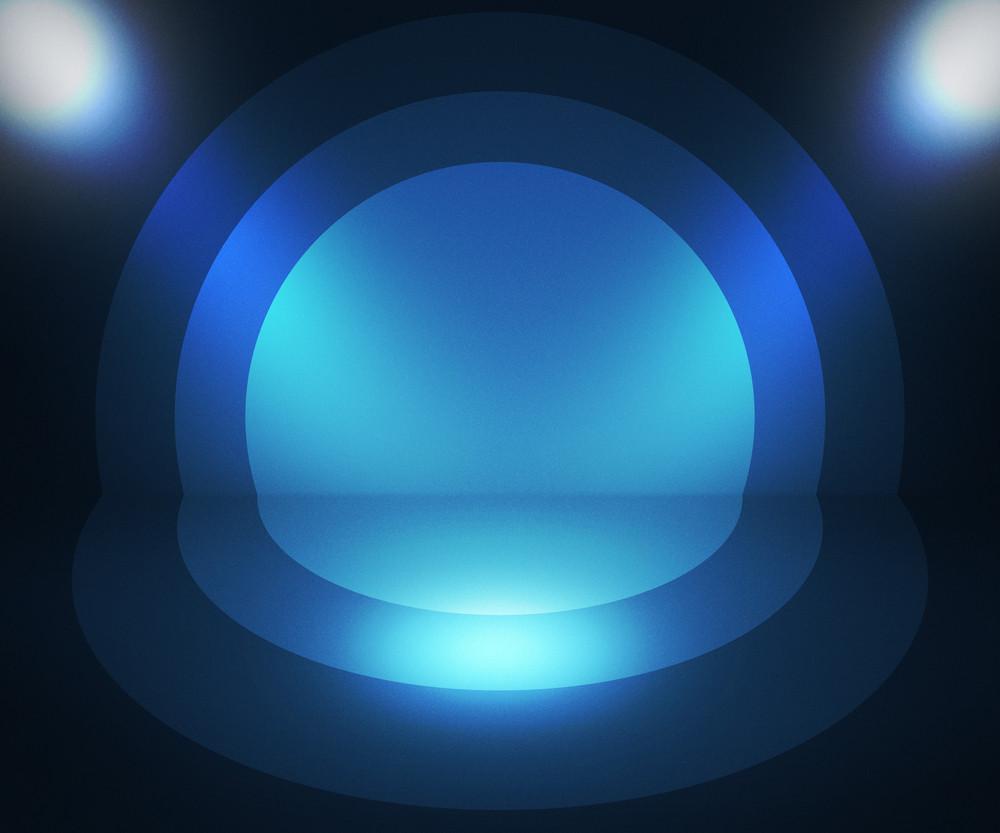Retro Spotlight Blue Background