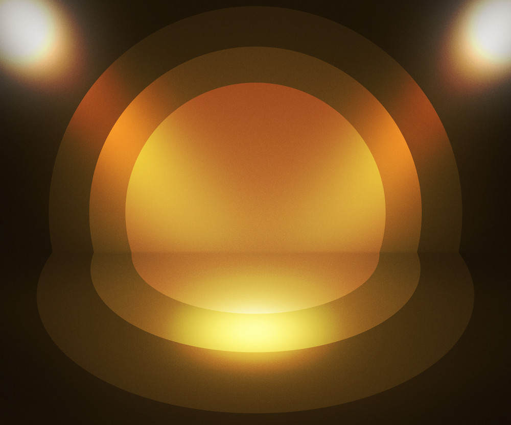 Retro Spotlight Gold Background