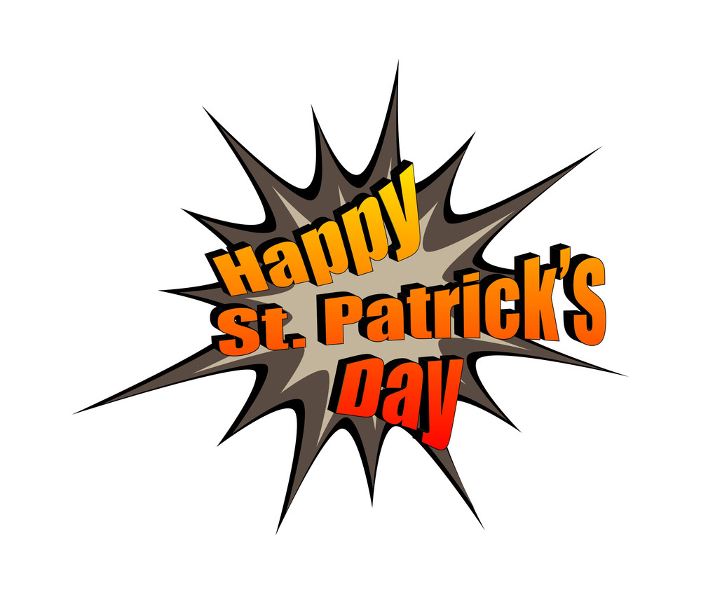 Retro St. Patrick's Day Burst Text Banner