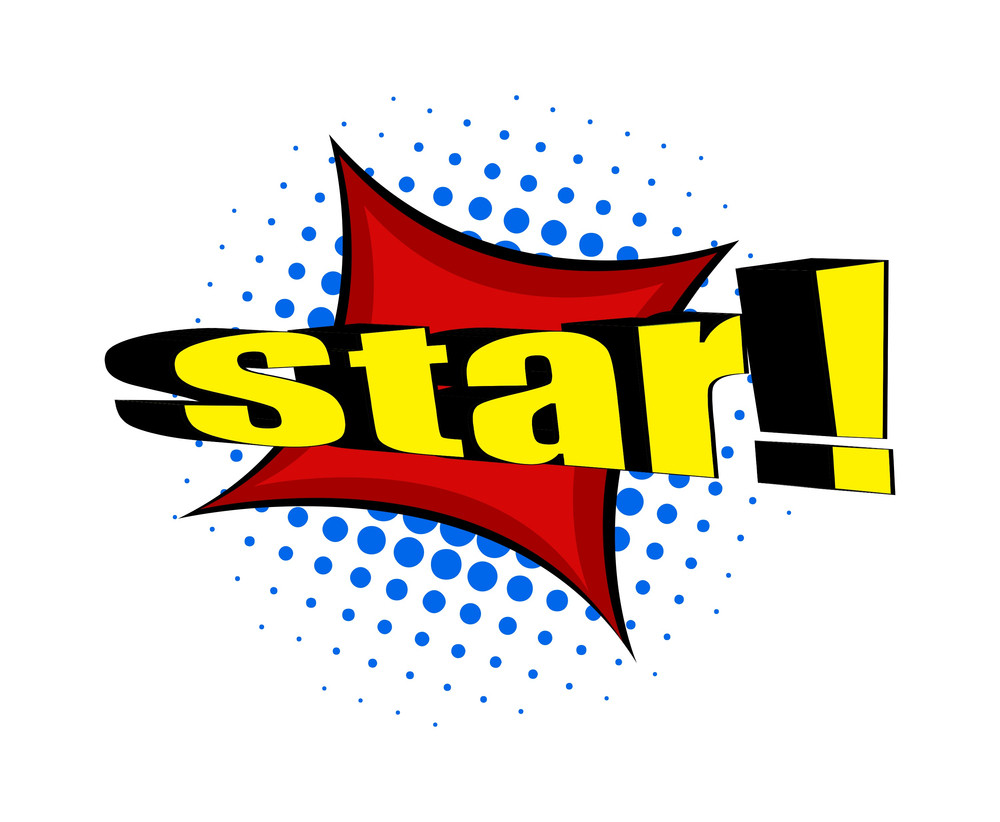 Retro Star Text Banner