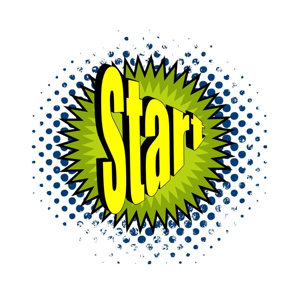 Retro Star Text Banner