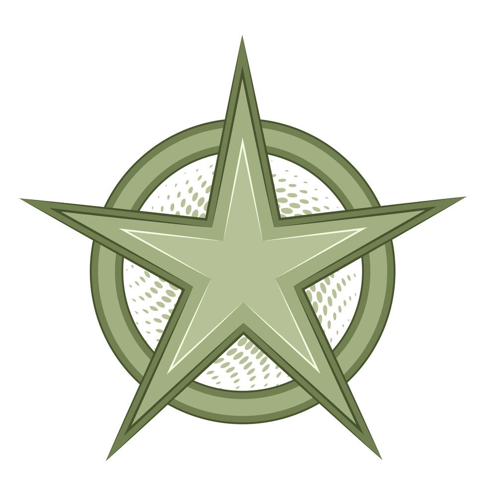 Retro Star Vector