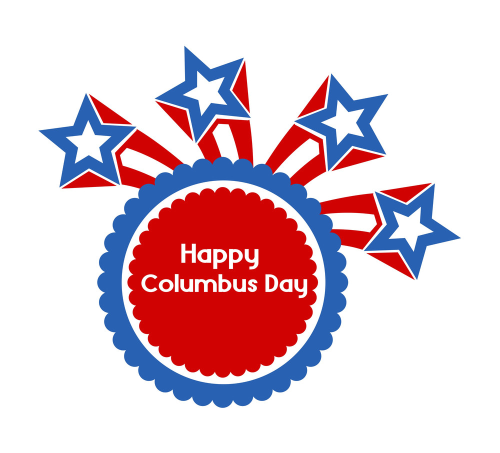 Retro Stars Columbus Day Banner