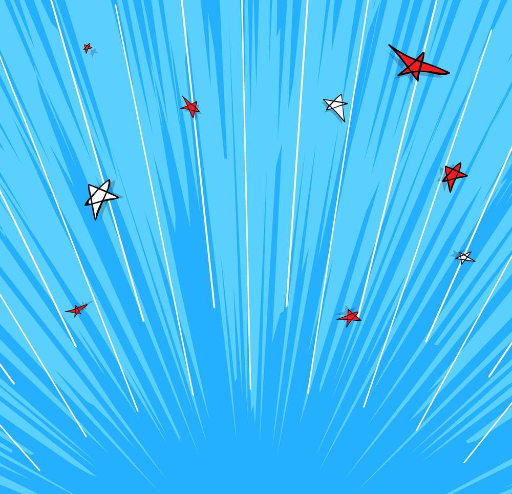 Retro Stars Sunburst Background