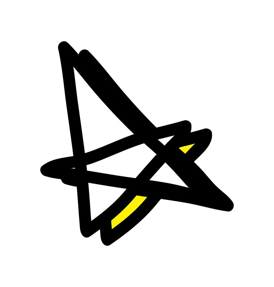 Retro Stars Vector Elements