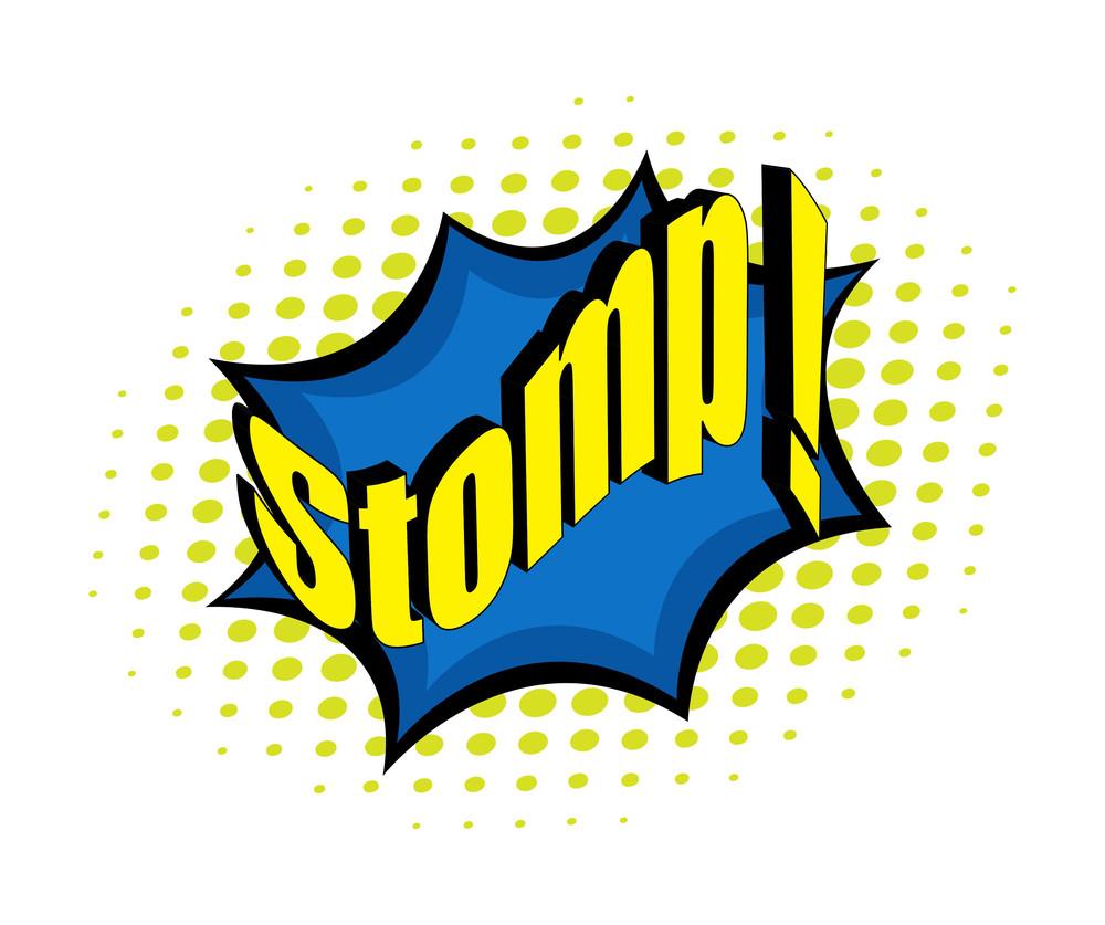 Retro Stomp Text Banner