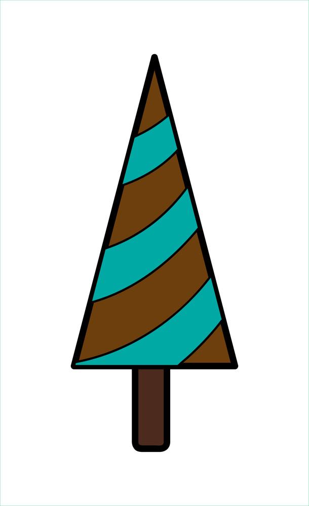 Retro Striped Christmas Tree