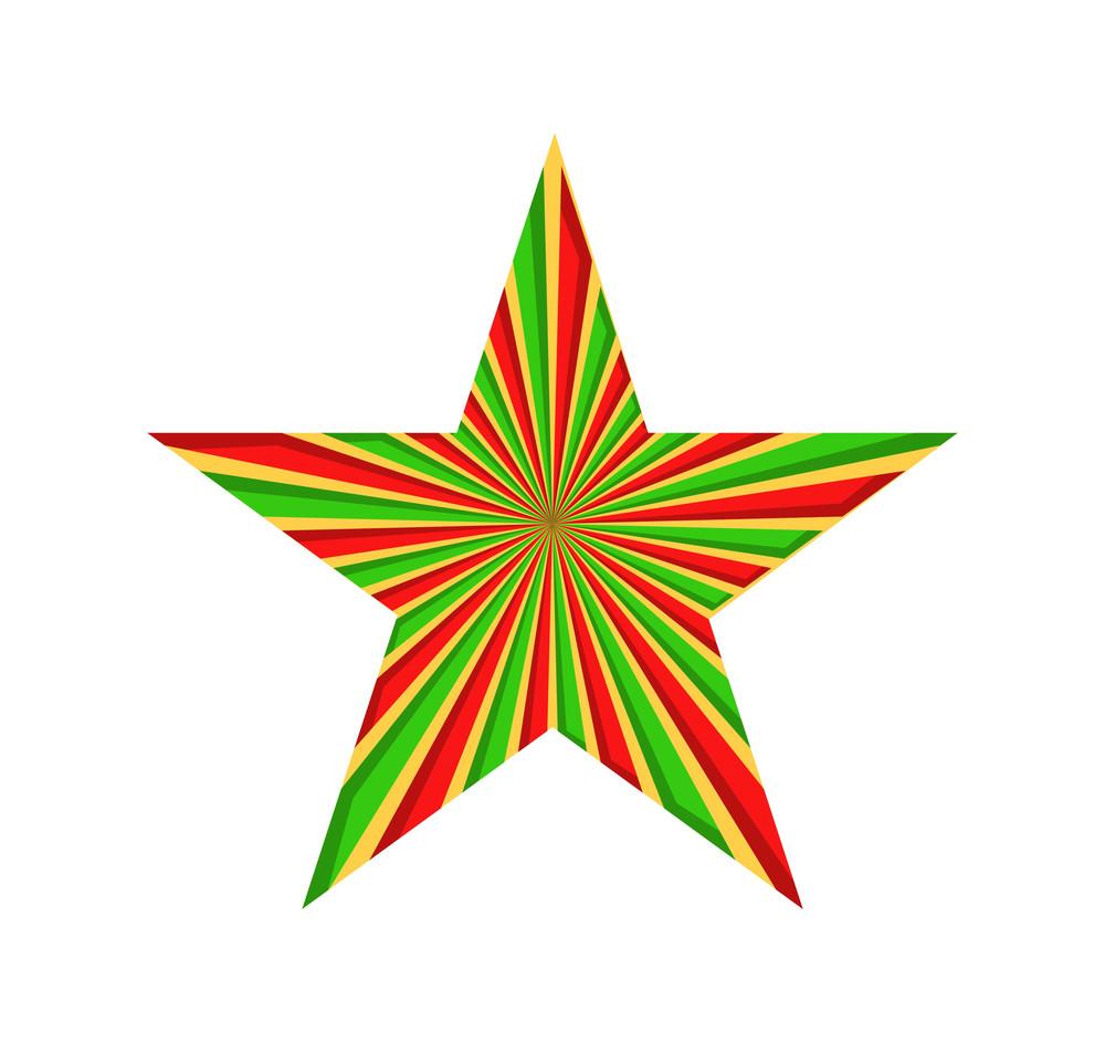 Retro Striped Star