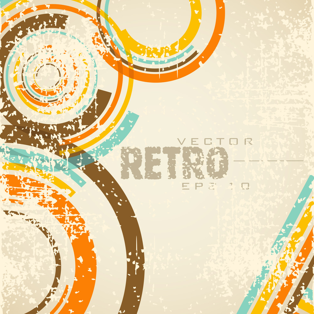 Retro Style Abstract Background With Grang And Eps 10 Vector Illustration.