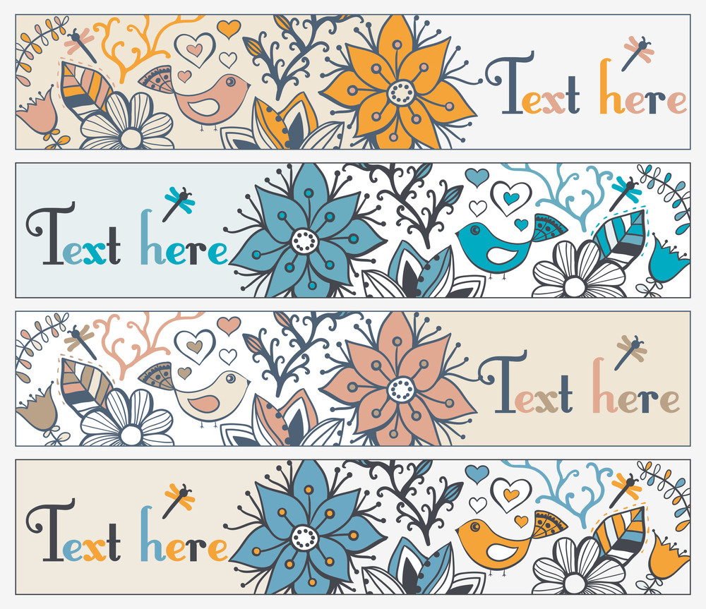 Retro Style Banner With Bird And Frame For Your Text In Autumnal Style.vintage Illustration Of Bird