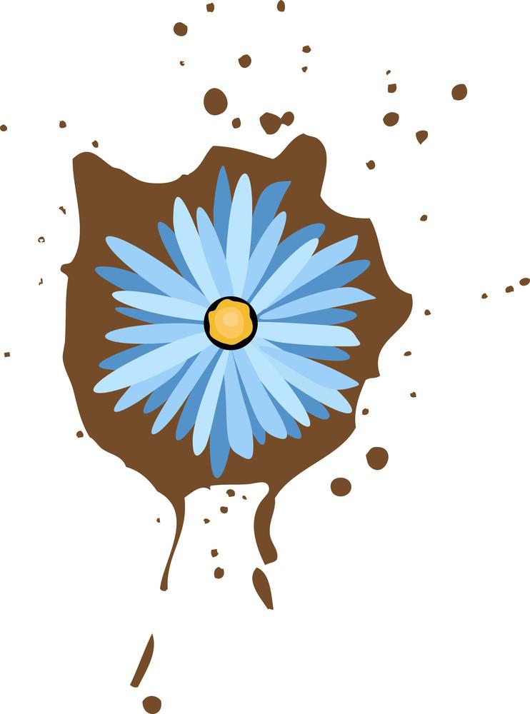 Retro Style Flower Label Decorative Vector Background