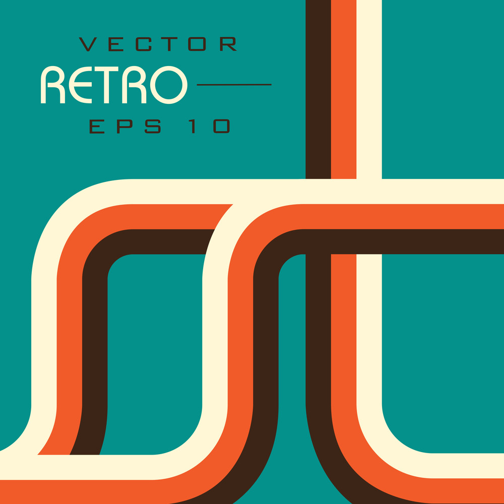 Retro  Style Vector Illustration Eps 10 Background.