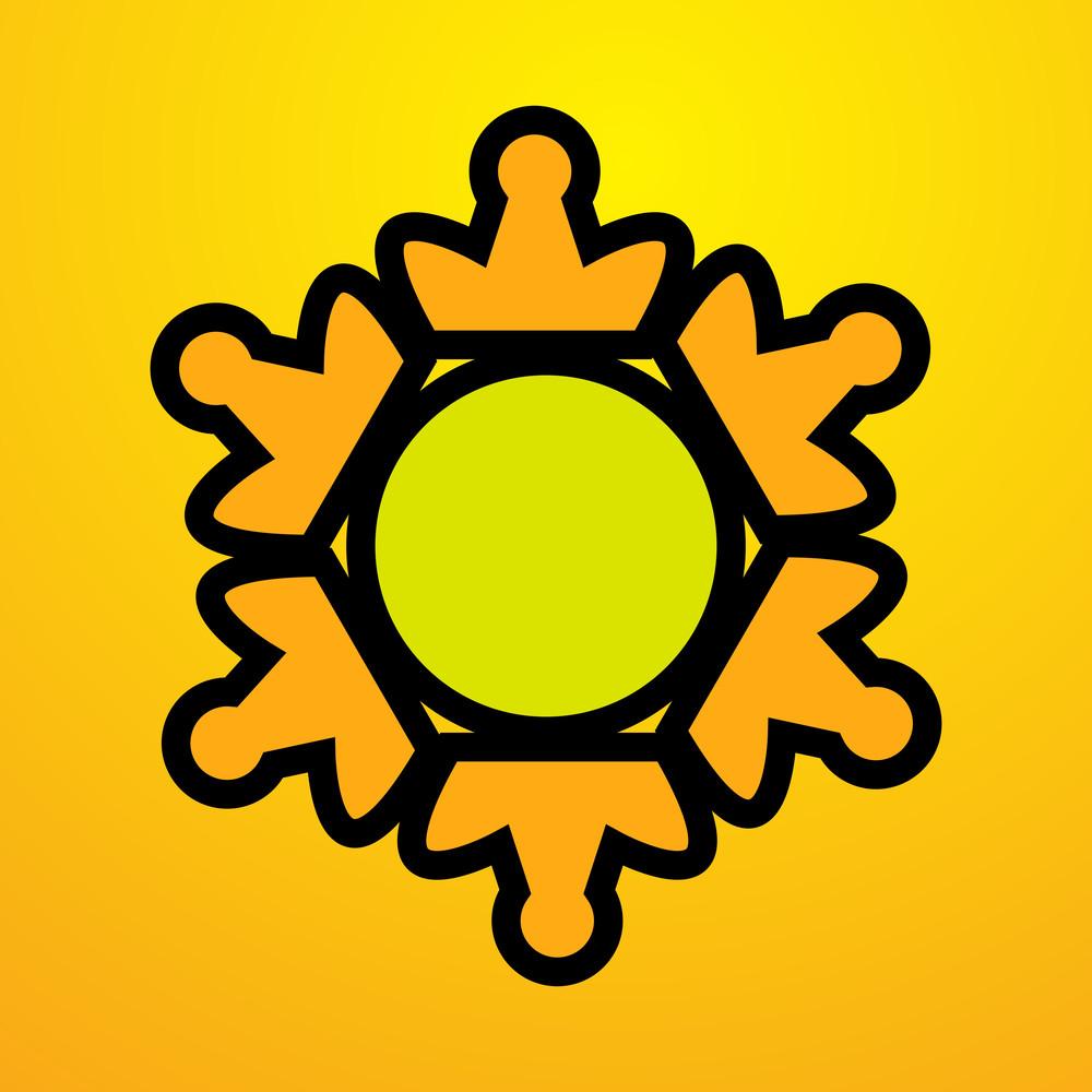 Retro Sun Design Vector Element