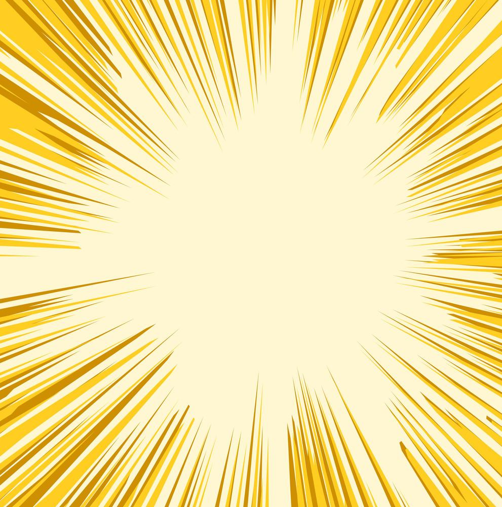 Retro Sunburst Graphic Background