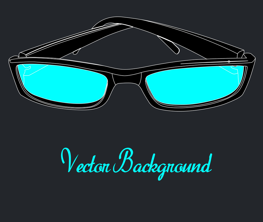 Retro Sunglasses Template Design