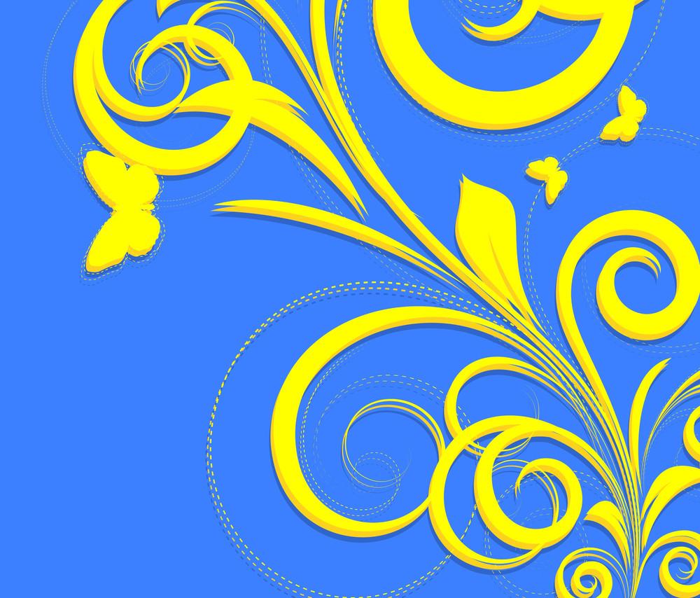Retro Swirl Flourish Design