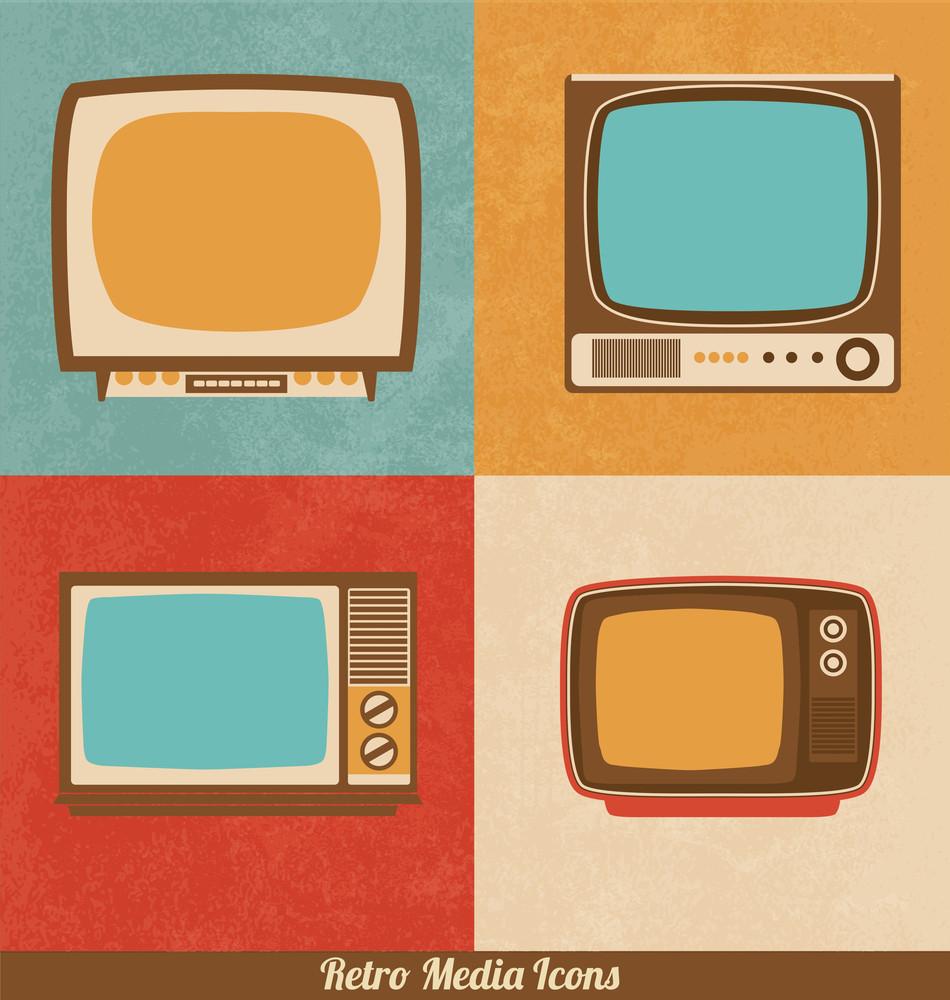 Retro Television Icons