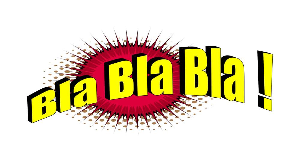Retro Text Bla Graphic Banner