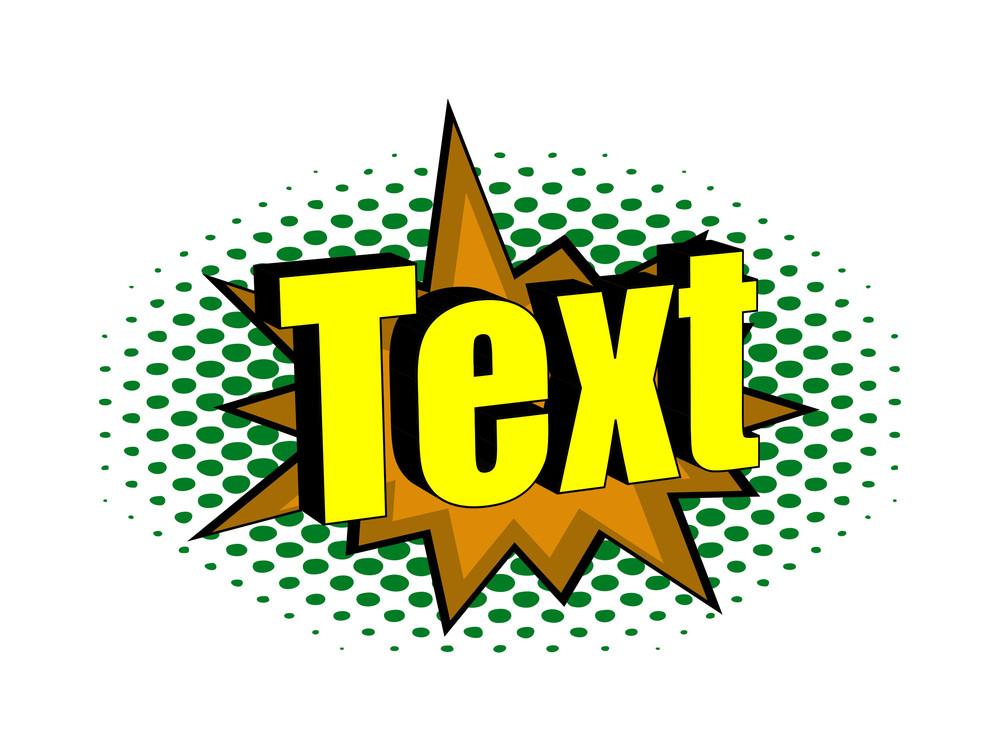 Retro Text Design Banner