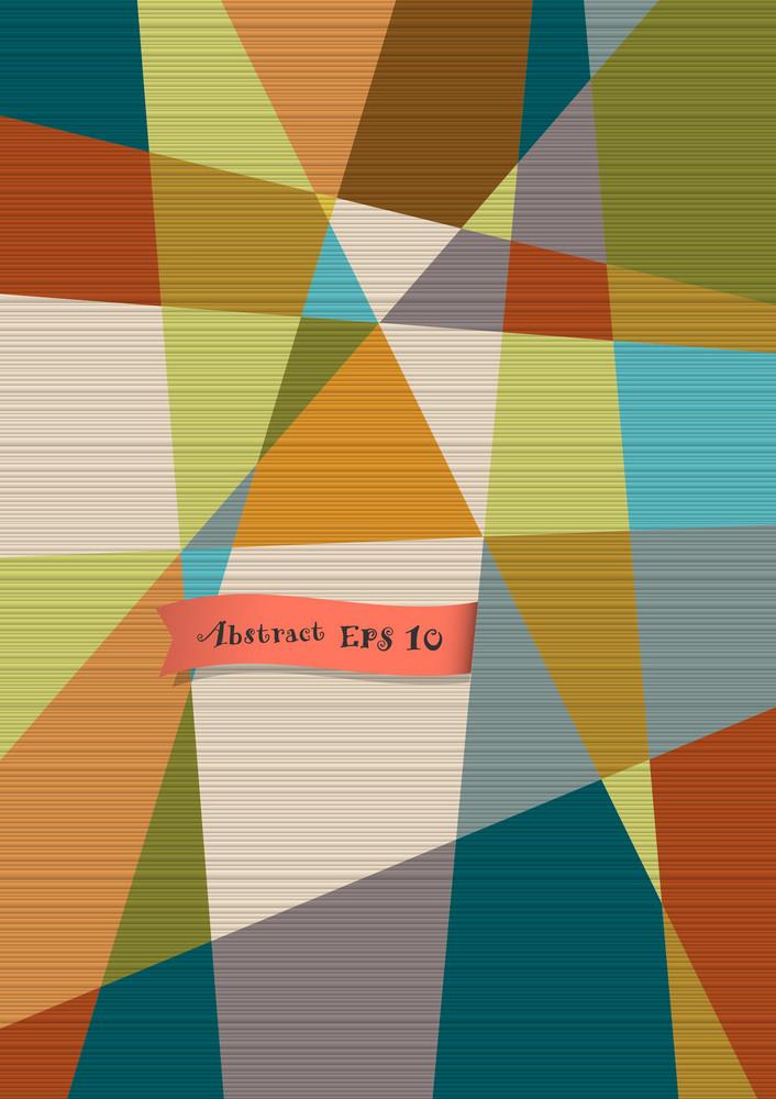 Retro Textured Geometric Background