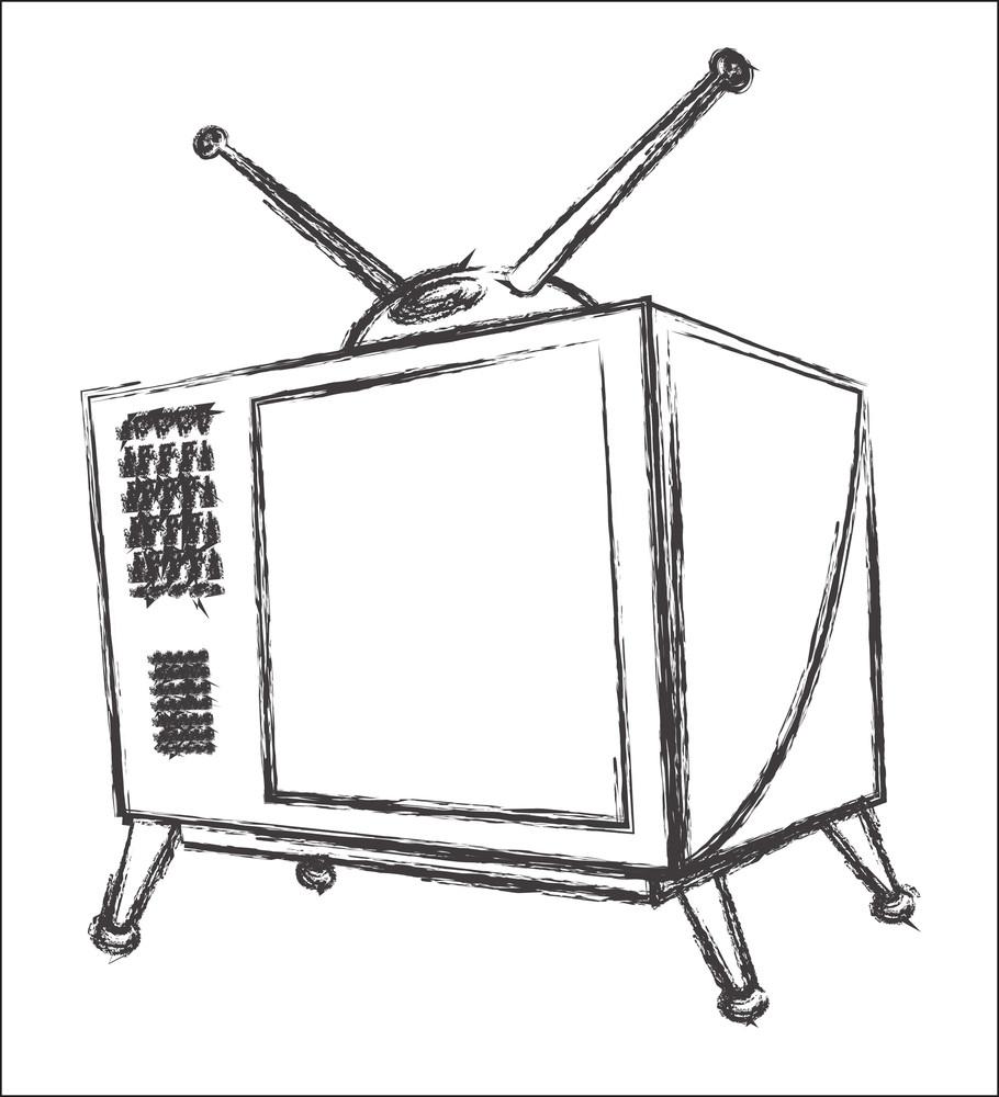 Retro Tv Sketching