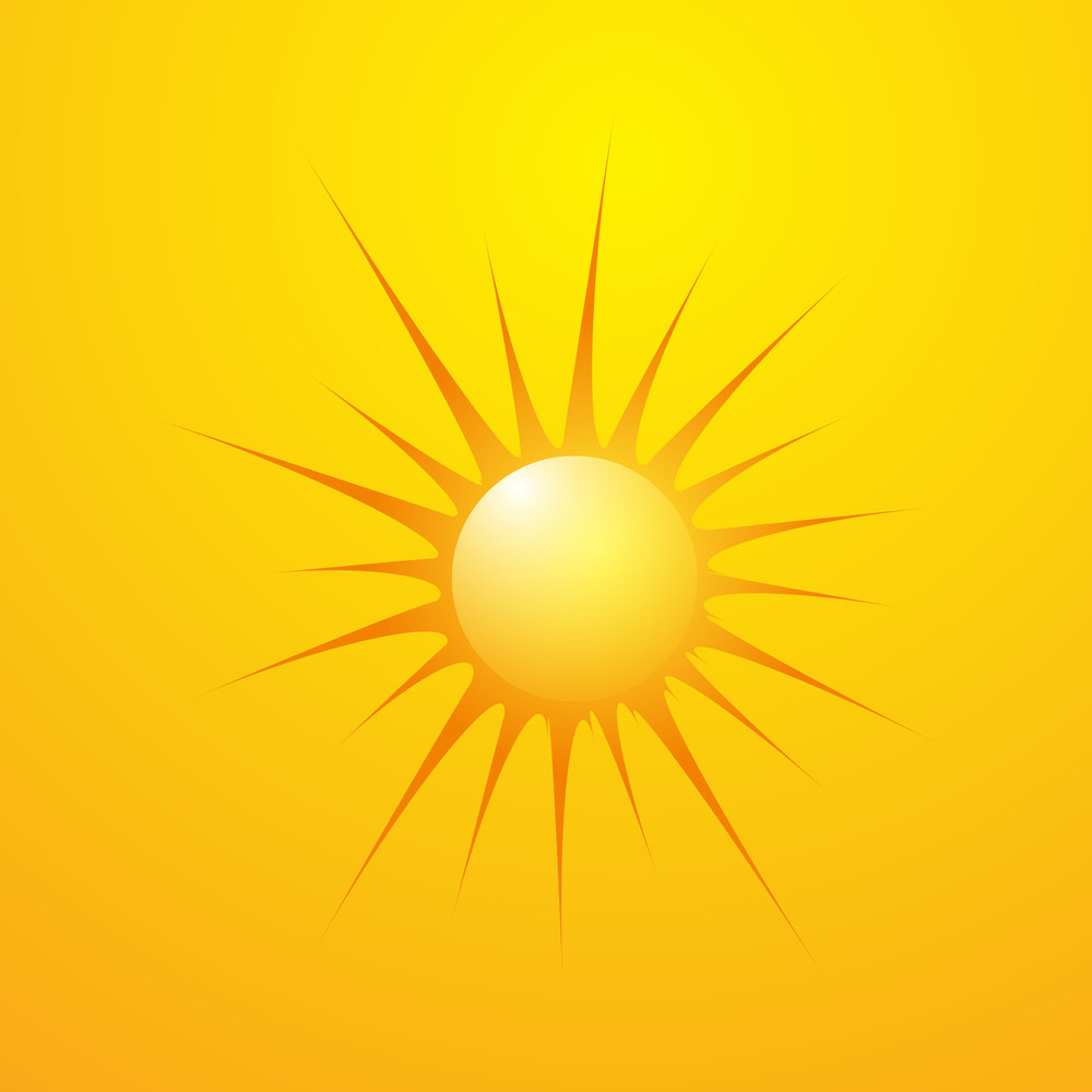 Retro Vector Sun
