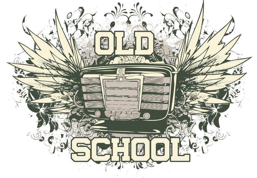Retro Vector T-shirt Design With Old Radio