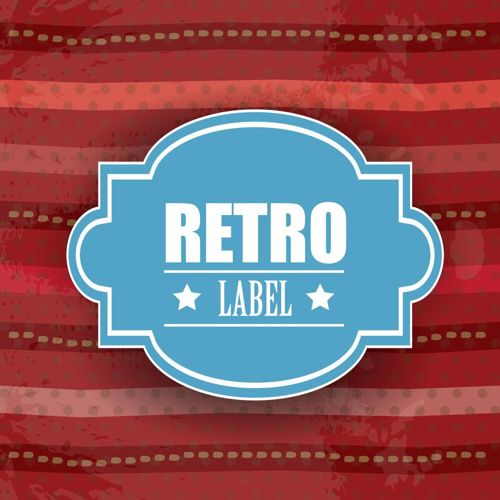 Retro Vintage Grunge Label - Eps Vector Illustration.