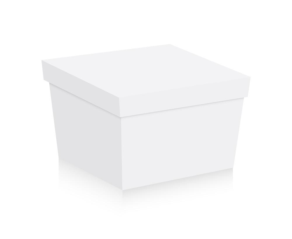 Retro White Gift Box