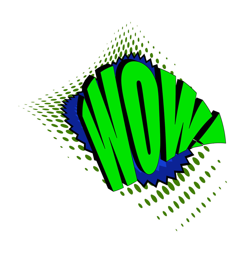 Retro Wow Text Banner