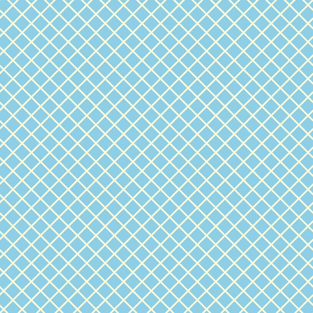 Retro Yellow And Blue Diagonal Checkerboard Pattern