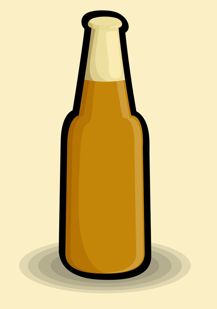 Retro Yellow Bottle
