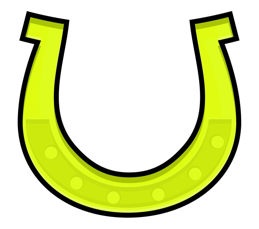Retro Yellow Horseshoe