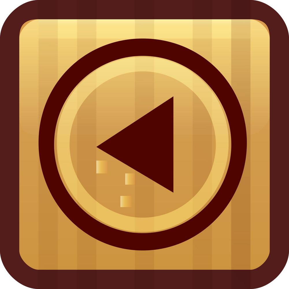 Reverse Play Brown Tiny App Icon