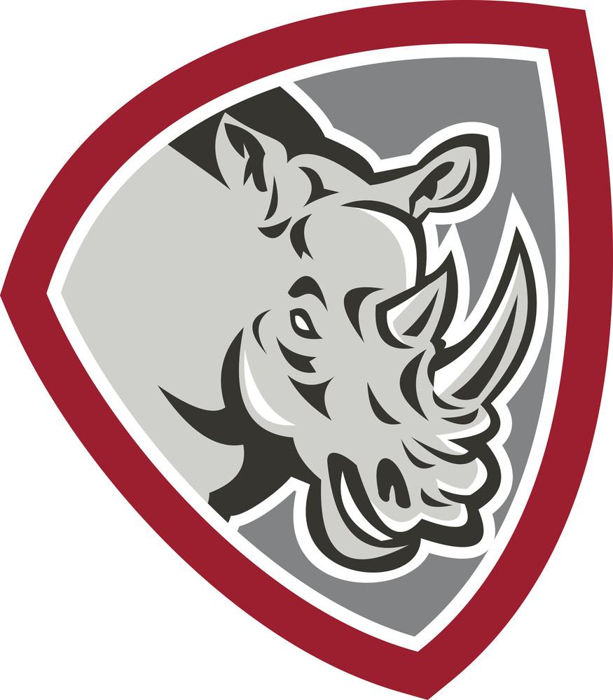 Rhinoceros Head Side Shield