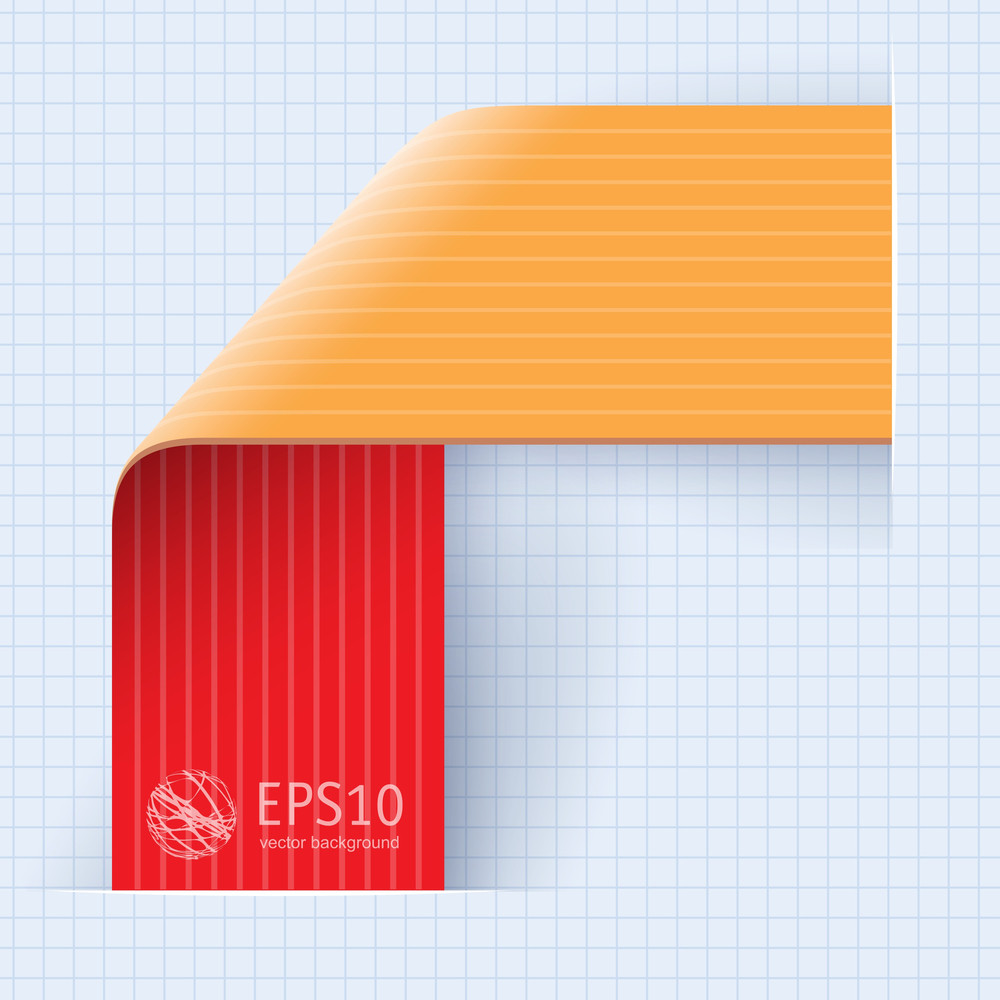 Ribbon Corner Template For Infographics. Vector