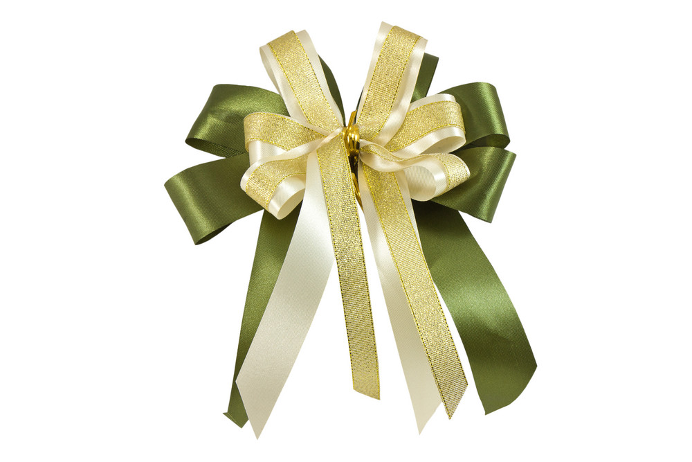 Ribbon Gift Bow Isolated On White