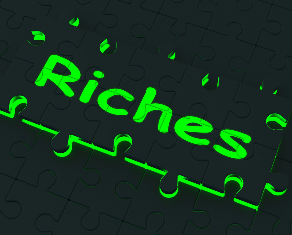 Riches Puzzle Showing Wealth And Big Earnings