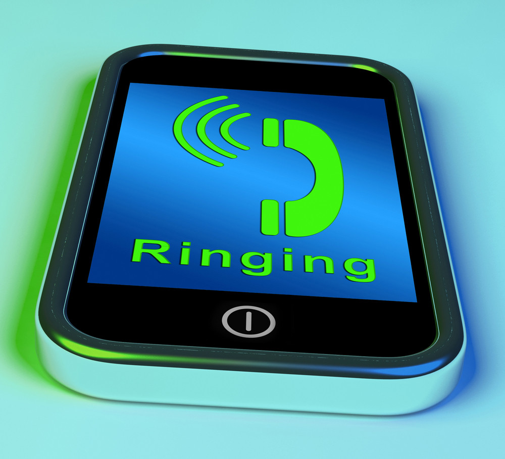 Ringing Icon On A Mobile Phone Showing Smartphone Call