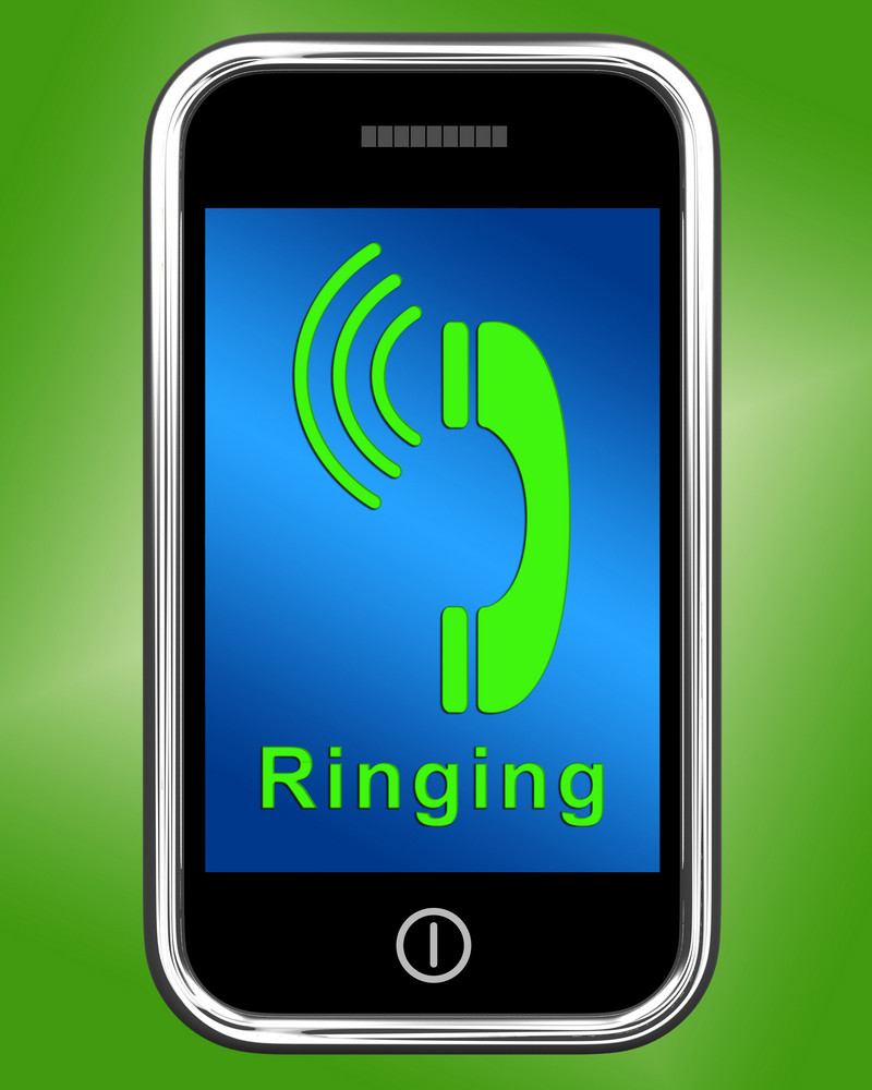 Ringing Icon On Mobile Phone Shows Smartphone Call